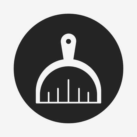 broom handle: Dustpan icon