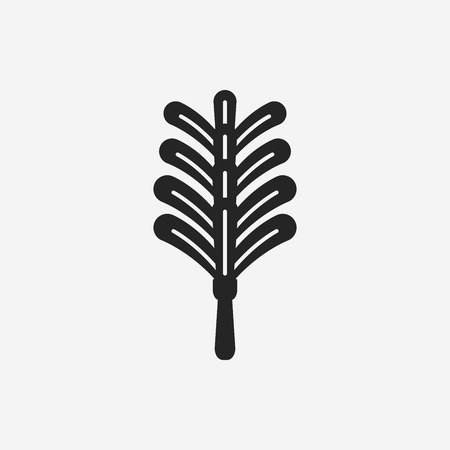 broom handle: feather duster icon