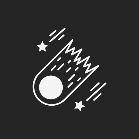Space meteoric stone icon Illustration