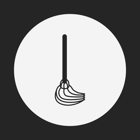cleaner vacuuming symbol: cleaning brush icon