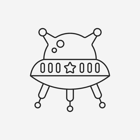 우주 UFO 선 아이콘 일러스트