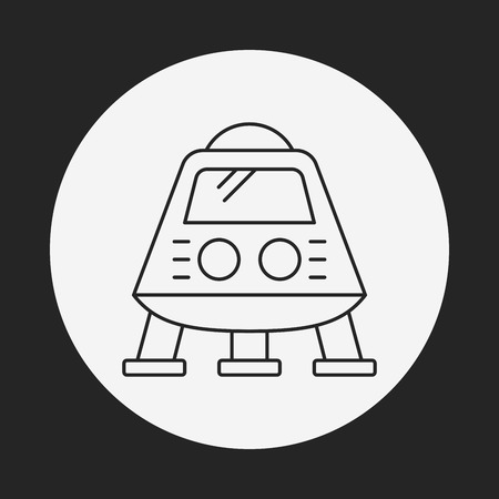 invaders: Space UFO line icon Illustration