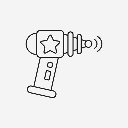 ray gun: Space Gun line icon