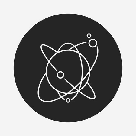 environmental science: Space planet line icon