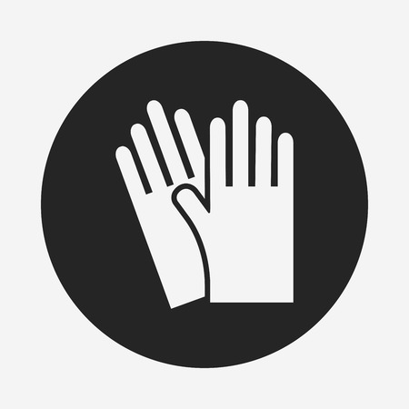cleaner vacuuming symbol: cleaning gloves icon Illustration