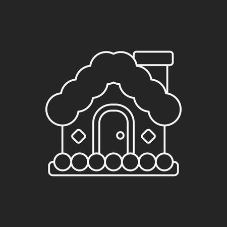 christmas icon: Christmas house icon Illustration