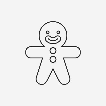 gingerbread man line icon Vector