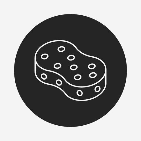 cocina limpieza: Icono de l�nea Esponja