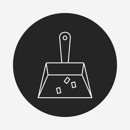 broom handle: Dustpan line icon