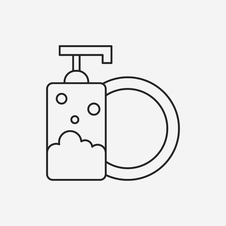 bleach: Detergents line icon Illustration