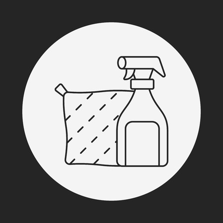 detersivi: Detergents line icon Vettoriali