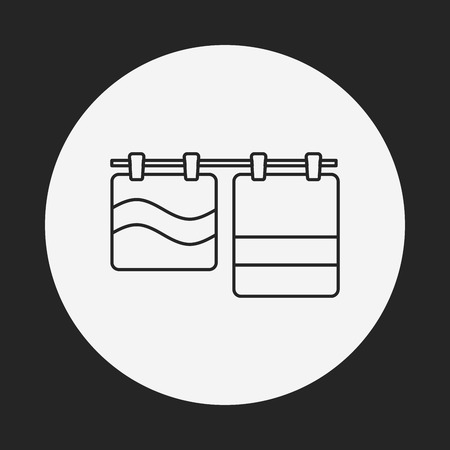 wash care symbol: towel line icon