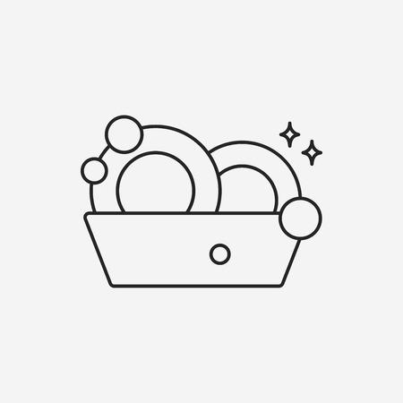 afwas lijn icoon Stock Illustratie