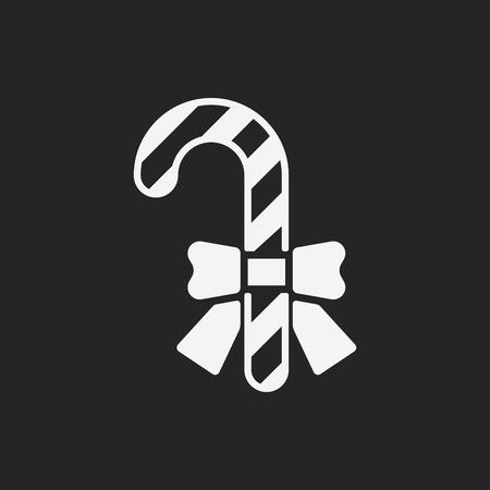 candycane: candy cane icon Illustration