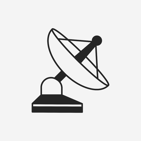 communications equipment: Space Satellite icon Illustration