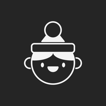 christmas icon: Christmas person icon