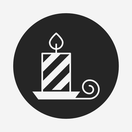 christmas icon: Christmas candle icon Illustration