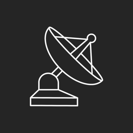 global navigation system: Space Satellite line icon