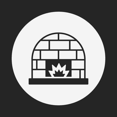 fireplace: Fireplace icon Illustration
