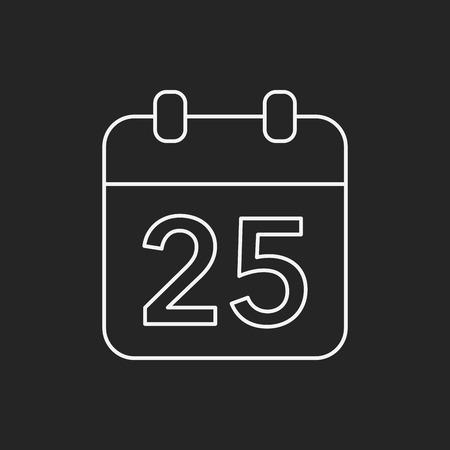 calendar icon: Christmas calendar line icon Illustration