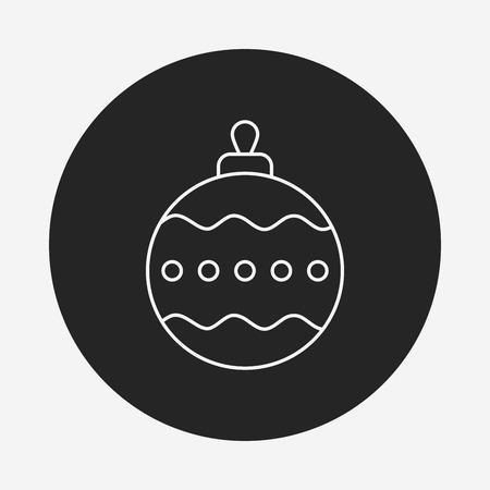 christmas icon: Christmas hanging line icon