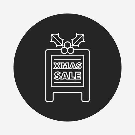 christmas icon: Christmas board line icon