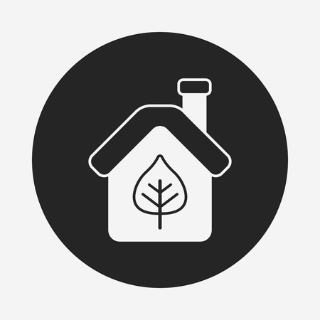 greenhouses: Environmental protection concept greenhouses icon Illustration
