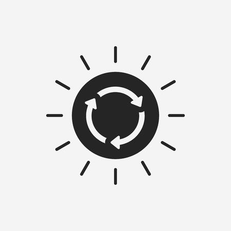 energy icon: Environmental protection concept solar energy icon