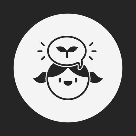 conciencia ambiental: Icono de persona Conciencia Ambiental Vectores