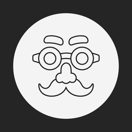 party mask: party mask line icon Illustration