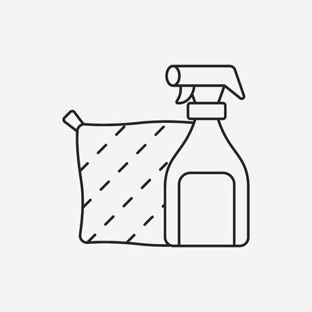 bleach: Detergents line icon Illustration