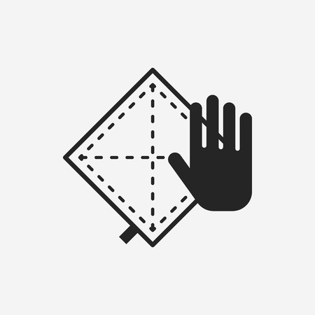 rags: rag icon Illustration