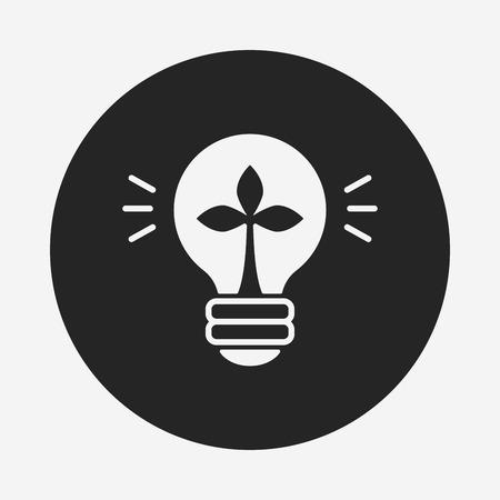 energy icon: Environmental protection concept saving energy; turn off lights icon Illustration