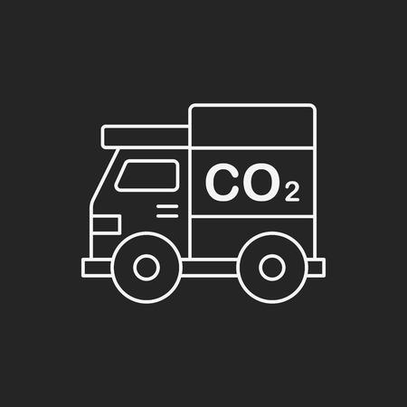 contaminacion aire: Concepto de protección del medio ambiente icono de línea coche verde