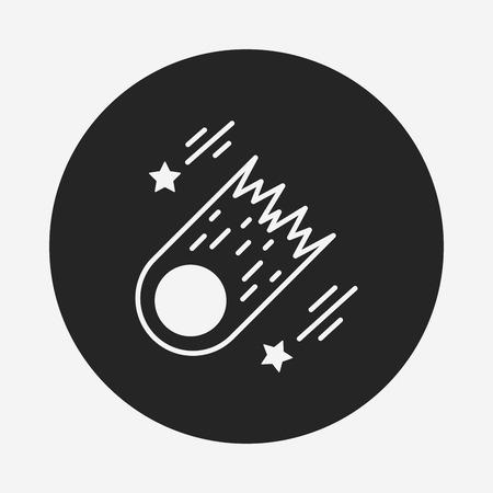 meteoric: Space meteoric stone icon Illustration