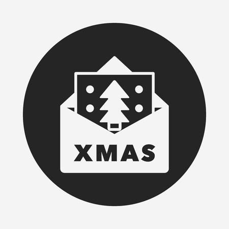 christmas icon: Christmas card icon