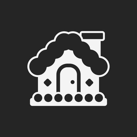 Christmas house icon Vector