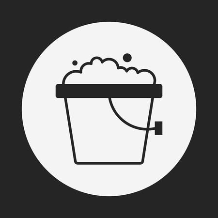 bucket water: icono de cubo de agua Vectores