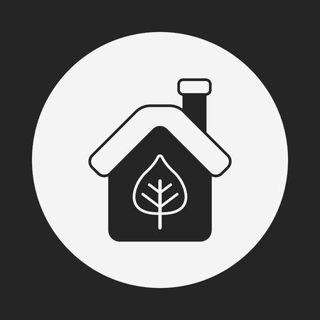 kassen: Bescherming van het milieu-concept kassen icoon