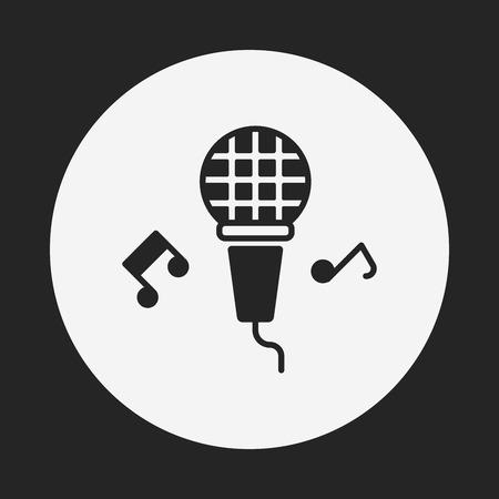 fiesta de cumpleanos: icono de micr�fono m�sica de fiesta de cumplea�os