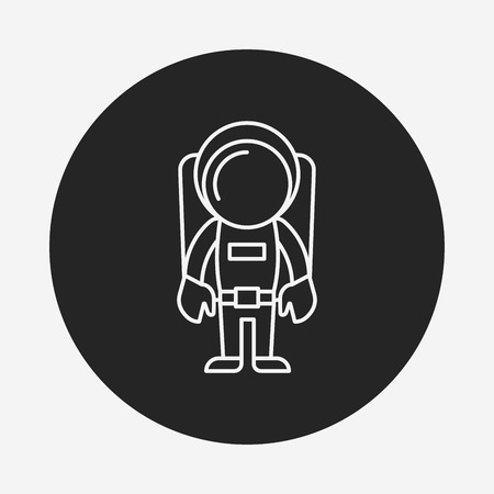 Space Astronaut line icon Vector