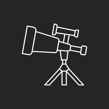 Space Telescope line icon