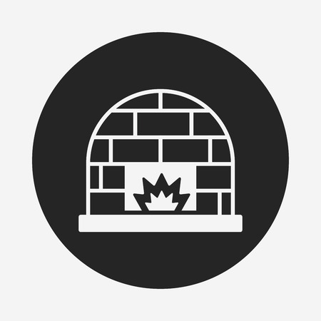 fireplaces: Fireplace icon Illustration
