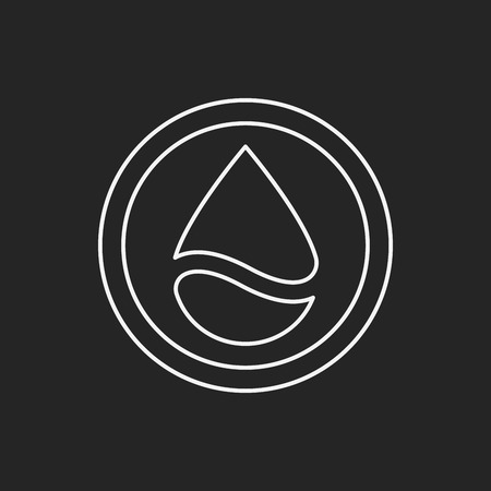 conserve: Environmental protection concept conserve water line icon Illustration