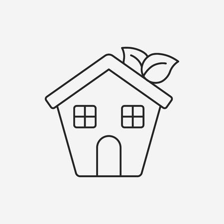 kassen: Bescherming van het milieu-concept kassen lijn pictogram