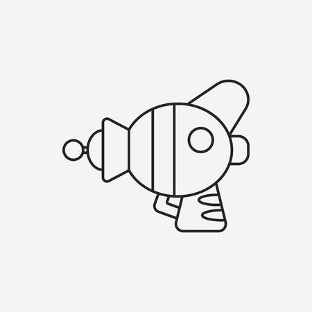 raygun: Space Gun line icon