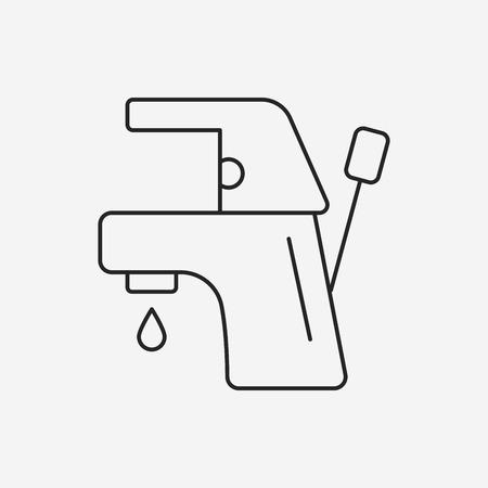 trickle: Faucet line icon Illustration