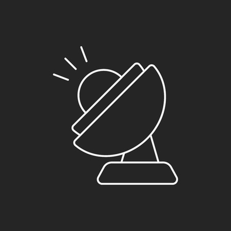 communications equipment: Space Satellite line icon