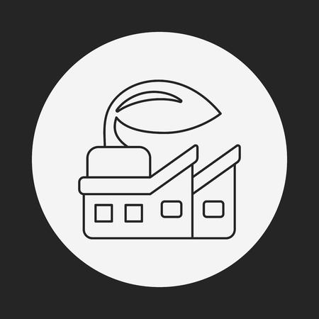 factory line: Environmental protection concept factory line icon