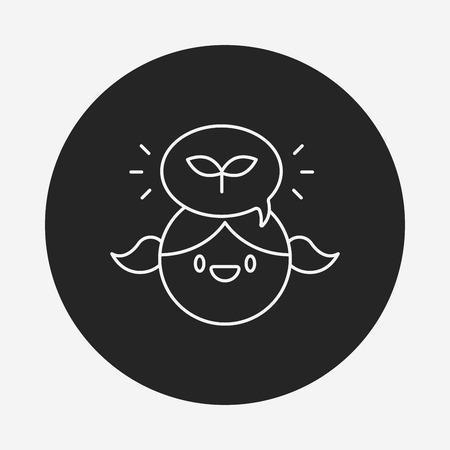 conciencia ambiental: Conciencia Ambiental icono de l�nea persona